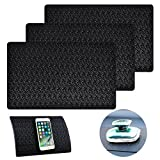 AIFUDA 3 Pcs Car Dashboard Pads Non-slip 11'' x 7'', Anti-Slip Ripple Sticky Dash Grip Mat for Coin Phone Key Sunglasses - Black