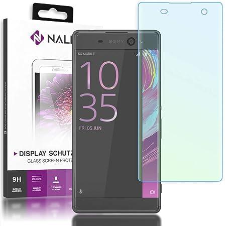 NALIA Schutzglas kompatibel mit Sony Xperia XA, 3D Full-Cover Displayschutz Handy-Folie, 9H Härte Glas-Schutzfolie Bildschirm