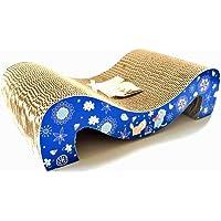 Irispets cat Scratcher Cardboard, cat Scratching pad, Corrugated cat Scratcher Lounge Toys with Catnip