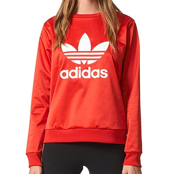 Trefoil At Crew Sweater Adidas X Red Originals Women's Large Vivid vPqzzE6w