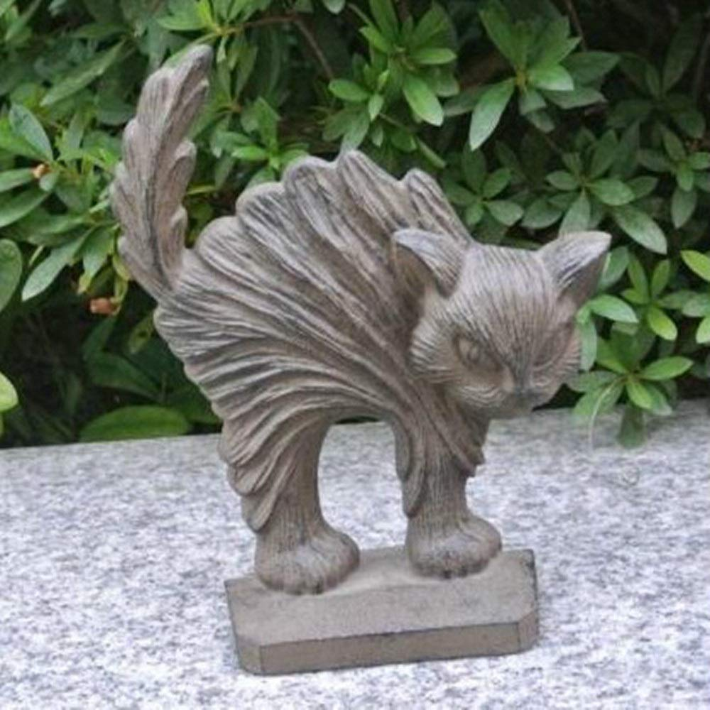 JUMERY-Vintage Cast Iron Doorstops, Durable Multifunctional American Country Cast Iron Crafts Cat Door Stopper Ornaments Shop Home Decorations Gifts Door Holder for Garden Farmhouse Wooden Door by JUMERY