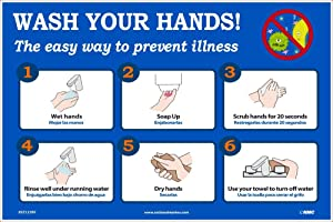 NMC PST137PP WASH YOUR HANDS 12X18 PAPER POSTER