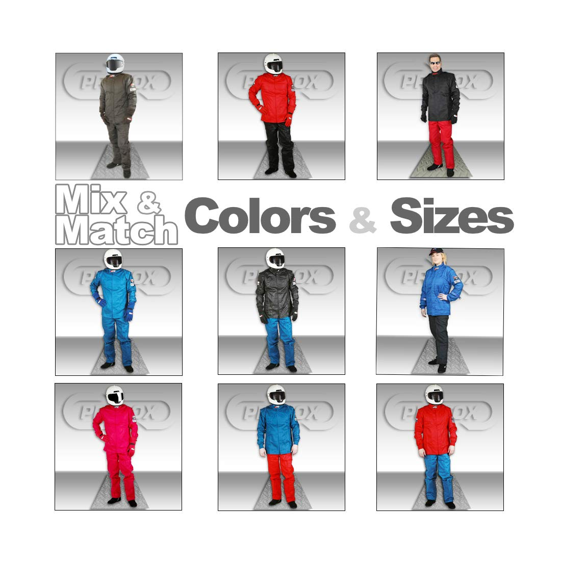 PROFOX-102 Blue Large-Tall Jacket Auto Racing Fire Resistant Single Layer SFI 3.2A//1 Racing Fire Suit Jacket only