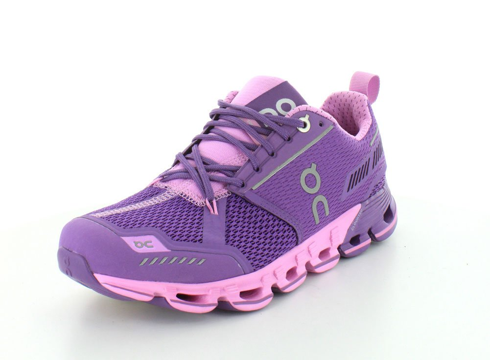 On Running Men's Cloudflyer Sneaker Iron/Sky B00YYJ0MX8 11 B(M) US - Women's|Purple/Rose