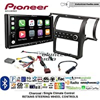 Volunteer Audio Pioneer AVH-2440NEX Double Din Radio Install Kit with Apple CarPlay, Android Auto and Bluetooth Fits 2003-2004 Infiniti G35 (Charcoal) (Single zone A/C controls)