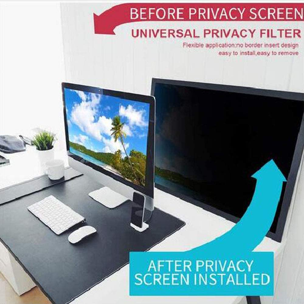 Docooler Computer Privacy Screen Filter Anti-glare Protective Film With Gap for Desktop Laptop Notebook Screen