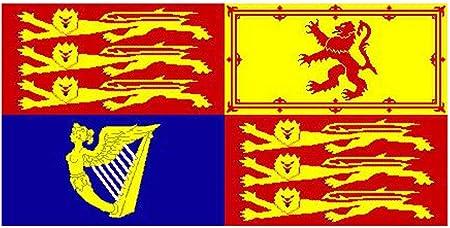 Klicnow - Bandera estandarte del monarca británico: Amazon.es: Hogar