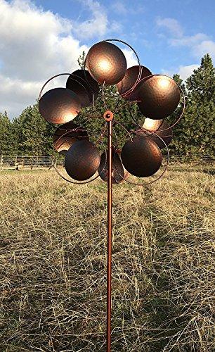 Cheap  MJ SPINNER DESIGNS Bronzed Inverse Circles Wind Garden Spinner