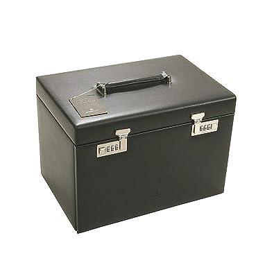 Ambiance Joyero windorse/estuche para relojes{5} estantes de cuero negro: Amazon.es: Joyería