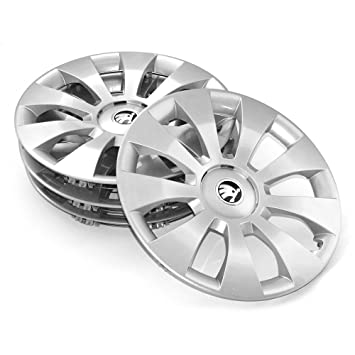 SKODA 3 V0071456 Wheel Trims (Set of 4 Wheel Trims Hub Caps 16 Inch Hermes * * * 6.5Jx16 Steel Wheels * * *: Amazon.co.uk: Car & Motorbike
