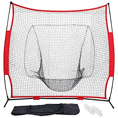 Yaheetech Baseball Net Training Balls & Softball Practice Screen