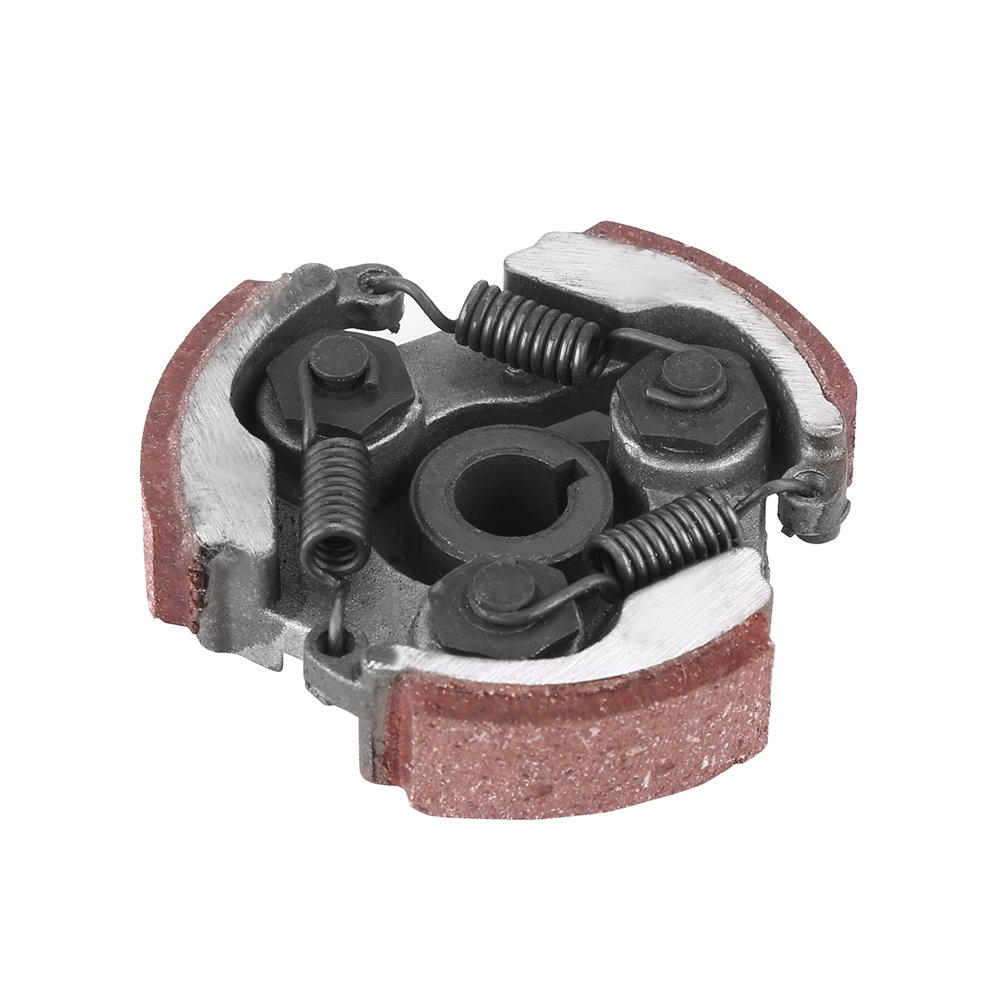 Qiilu Motorcycle Clutch Pad with 3 Springs for 2 Stroke 47cc 49cc Mini Pocket Dirt Bike ATV Scooter
