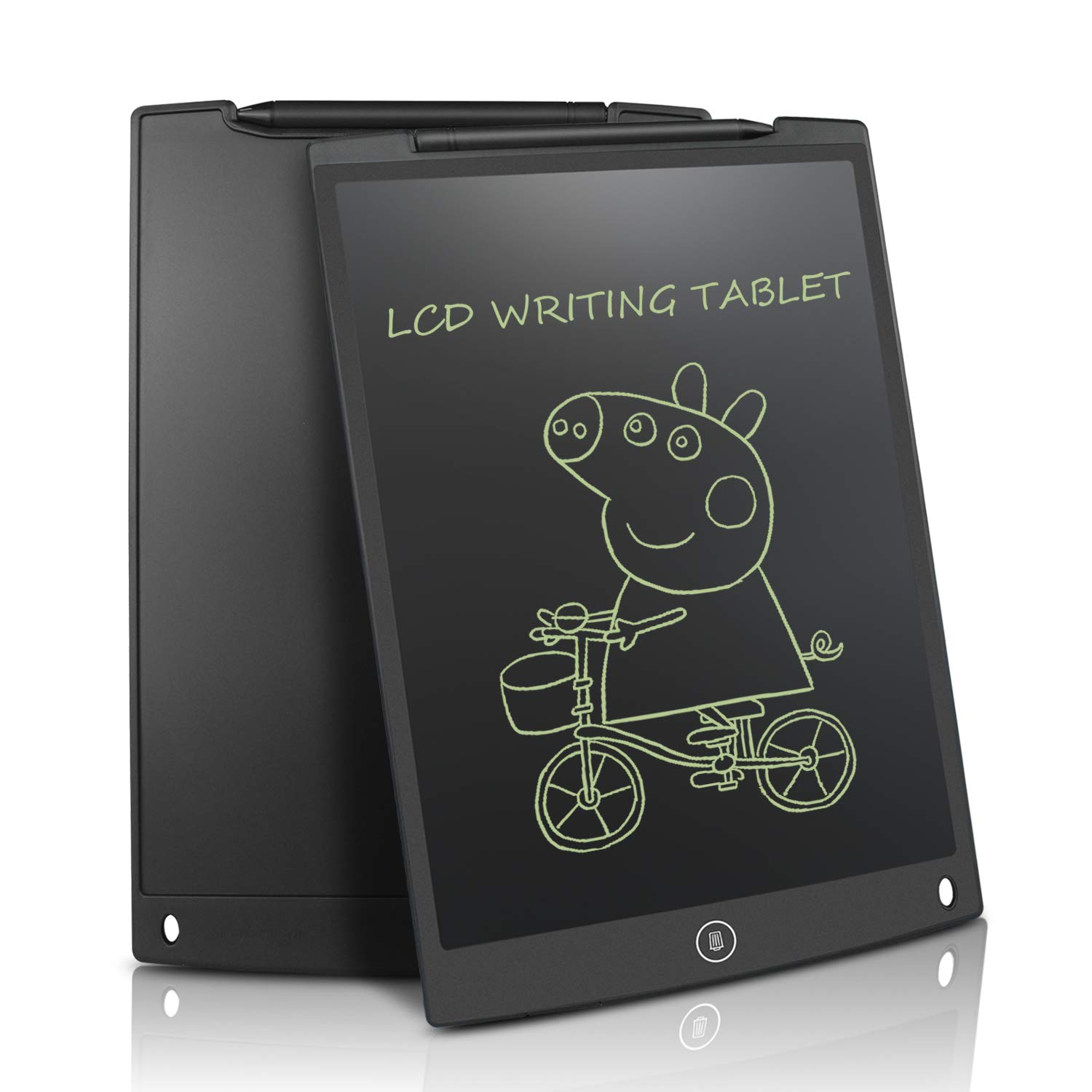 LCD Writing Tablet 12 Inch - HOMESTEC Drawing Board Gifts for Kids Office Writing Memo Board (Black) NYWB12-BL