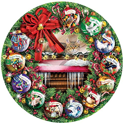 1000 Piece Counting the Days - 12 Days of Christmas Circular Puzzle