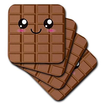 Amazon Com 3drose Cst 57500 1 Kawaii Happy Milk Chocolate