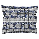 Roostery Bingo Euro Flanged Pillow Sham Bingo Black Paper with Bingo Text by Dd BAZ Natural Cotton Sateen Made