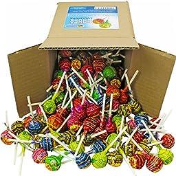 Chupa Chups Classic Lollipops, Assorted Flavors in 6x6x6 Box Bulk Candy