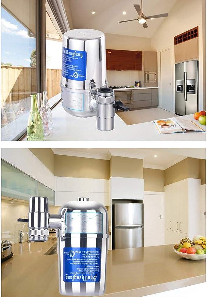 OWES Grifo purificador de Agua hogar, purificador de Agua del hogar, purificador Frontal de la Cocina Filtro del Grifo casero - Plata: Amazon.es: Hogar