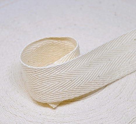 1 1/2 colores natural 100% algodón cinta de sarga de espiga 50 ...