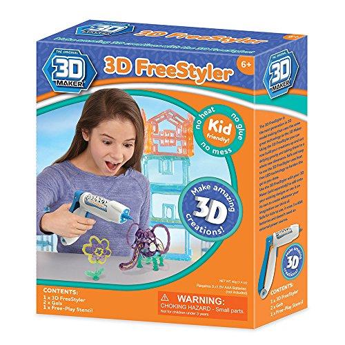 3D Maker – 3D Freestyler – Coffret Pistolet à Gel + 2 Tubes