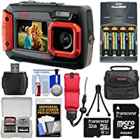 Coleman Duo 2V9WP Dual Screen Shock & Waterproof Digital Camera (Red) with 32GB Card + Batteries & Charger + Case + Float Strap + Kit Noticeable Review Image