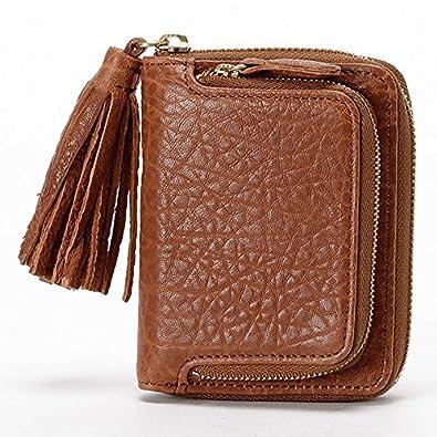 fe1281ef365b Amazon | ペルケ(perche') 財布(厚口シープタッセル付き二つ折り財布 ...