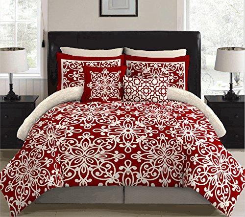 stylehouse Scarleta Bed in a Bag Comforter Set Full Scarlet A
