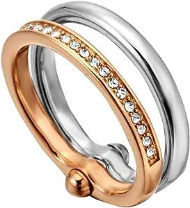 Esprit Tara Ring for Women , Stainless Steel - ESRG00082317 (17 mm)
