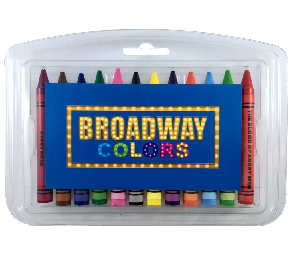 Broadway Colors Crayon Set - 12 Broadway Show Themed Colors in A Clear Case