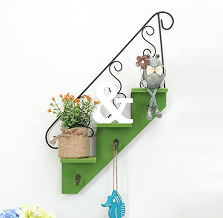 skyseen madera Escalera Forma colgar en la pared estantes plantas suculentas almacenamiento Holder Display Rack organizador: Amazon.es: Hogar