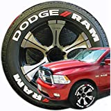 """TireStickers - 'DODGE RAM' - Tire Lettering Accessory Kit (All Trucks 1500, 2500, 3500 ) // Easy, DIY Glue On // FREE Touch-Up Cleaner (22""""-24""""/1.50"""" - 8 Decals)"""