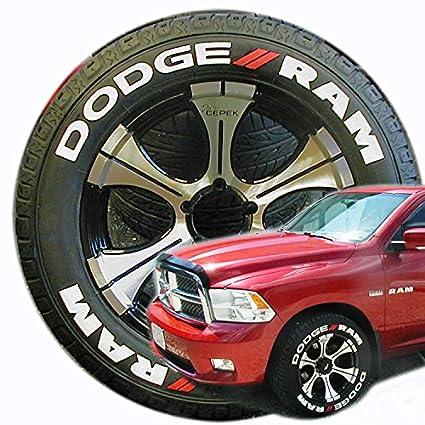 tirestickers dodge ram tire lettering accessory kit all trucks 1500