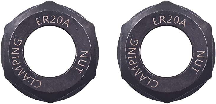 2 x ER20 A Type Collet Clamping Nut Chuck Holder ER20A for CNC Milling Lathe