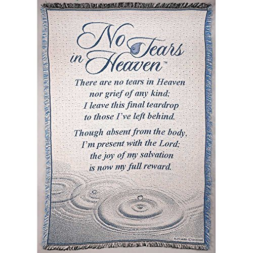 - Dicksons No Tears in Heaven Memorial 46 x 68 All Cotton Tapestry Throw Blanket