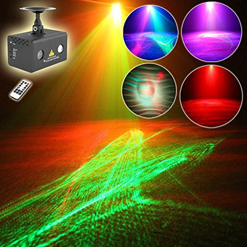 Sumger Professional Mini Size RG Led Laser Stage Lighting,RGB Water Effect Projector Lights With Remote For DJs, Bars, Pubs, Clubs, KTV,Party, Wedding Party, Events