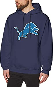 SJNBAKGA Men's Hoodie Detroit Lion Men's Graphic Hoodie Hooded Sweatshirt Music Animation Customized Picture, Customizable3X-Large