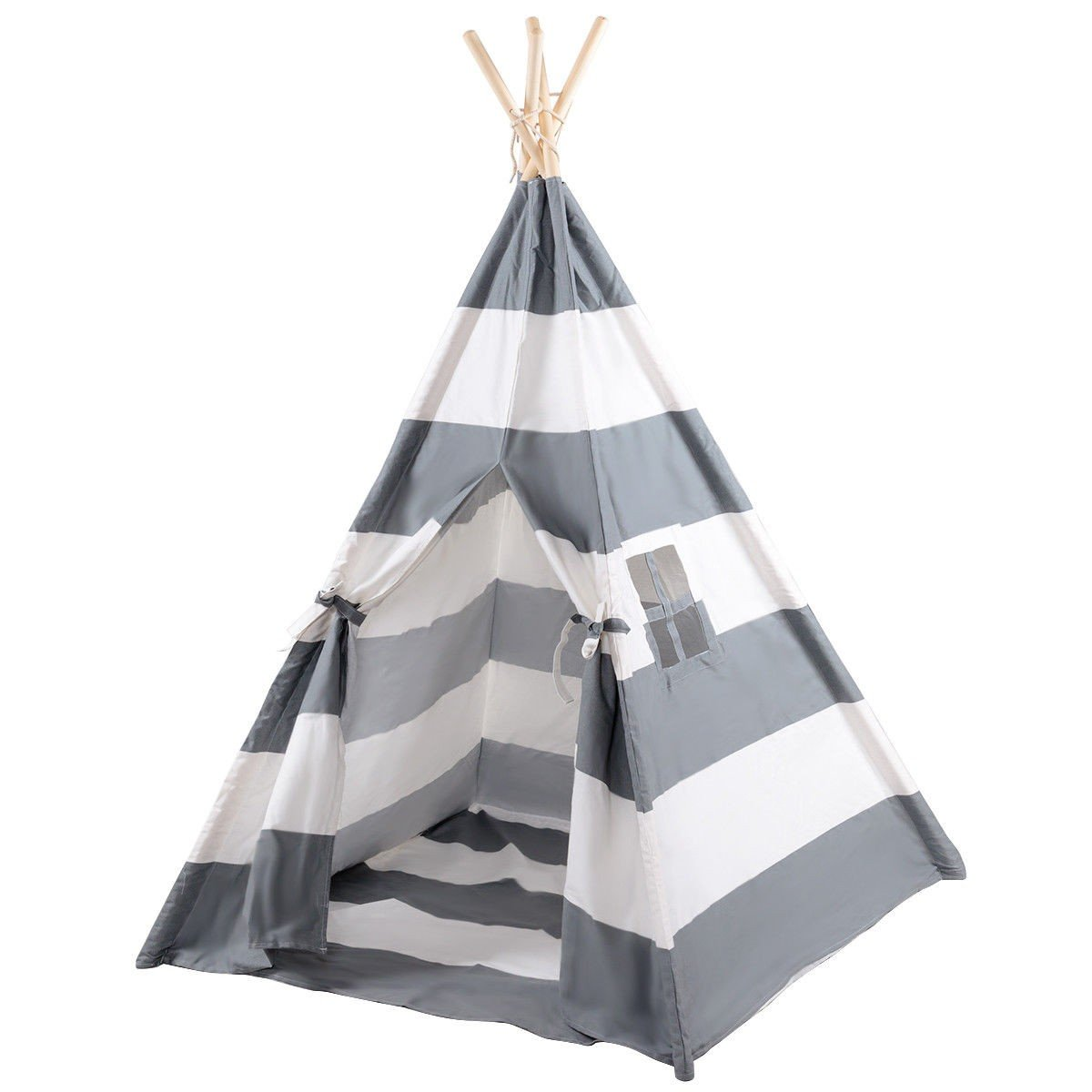 COSTWAY Kids Indian Play Tent Teepee Children Girl Boy Play House Sleeping Dome Bag Gray + FREE E - Book Only By eight24hours