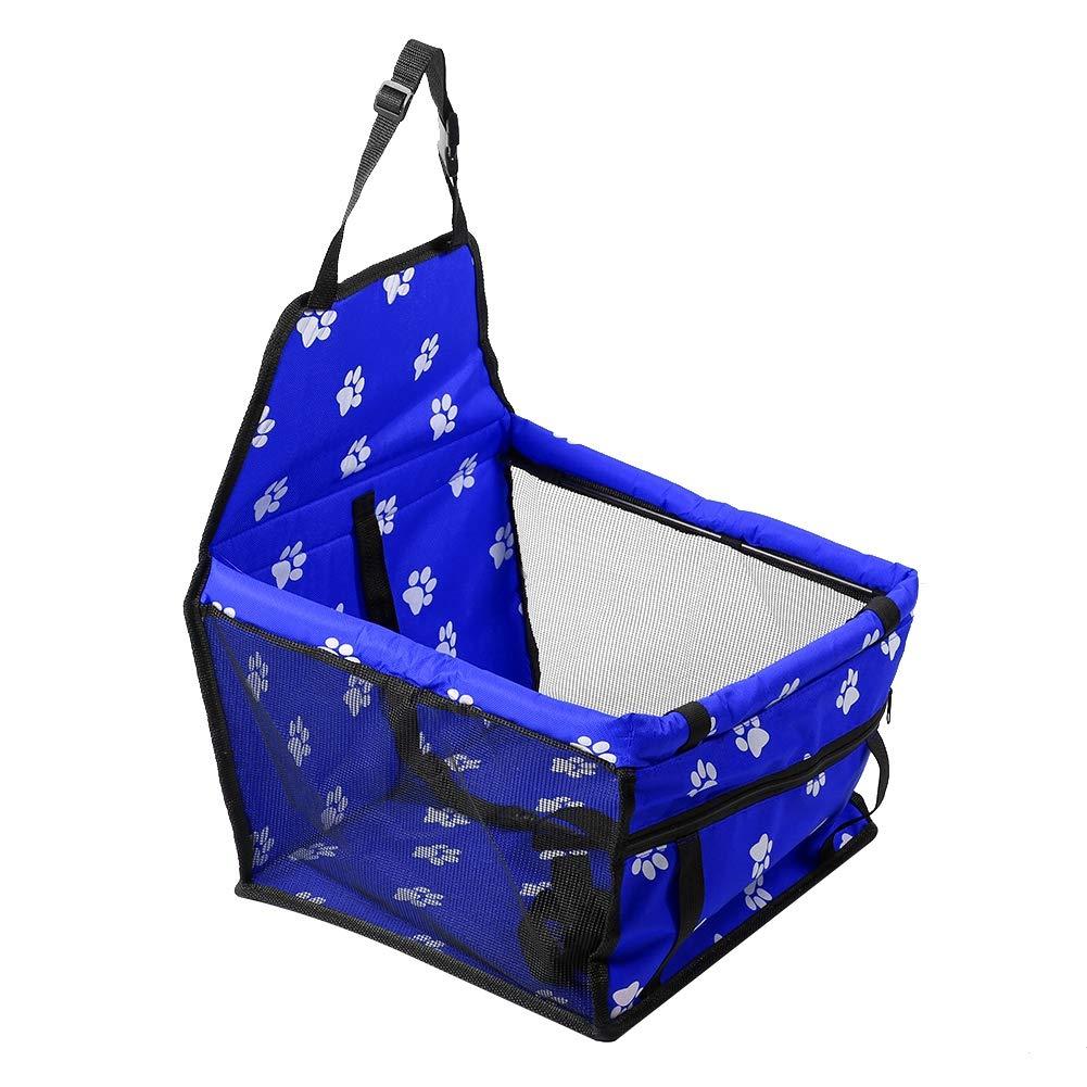 Aramox Car Pet Seat,Foldable Car Pet Dog Seat Cover Oxford Fabric Pet Carrier Mesh Basket bluee