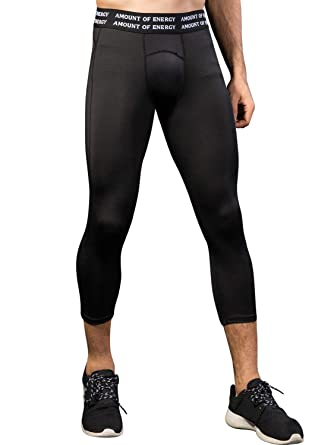 47a9d4d04a Amazon.com: Queerier Mens Compression Leggings Ranger Pants Basketball  Tights for Men Quick Dry Running Tights Sports Pants: Clothing