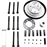 Vvanpro DIY Electric Skateboard 83MM 90MM 97MM PU Wheel Pulleys Kit Set 36/18 Tooth Belt 10MM 5M 270MM(Snow Black, Pack of 1)