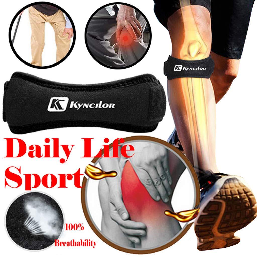Black YunZyun Elder Knee Support Strap Parent Knee Support Patella Tendon Brace Strap Stabilizer Relieve Pain,Wraps Tight Around Your Knee to Apply Support