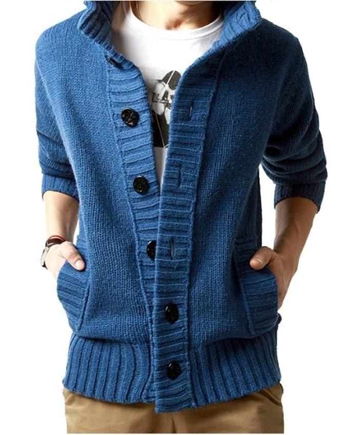 Cardigan Men Chunky Knitwear Sweatshirt Hoodie Ropa Jacket Coat ...