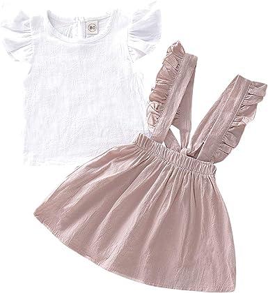 Borlai - Vestido de Moda para niños y niñas, con Volantes en la ...