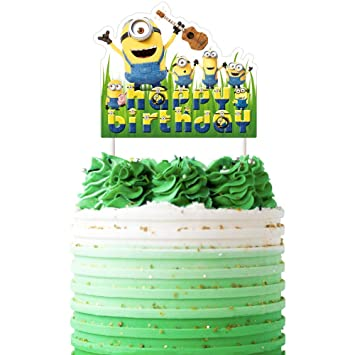 Marvelous Minions Cake Topper Despicable Me Birthday Collection Of Minion Personalised Birthday Cards Cominlily Jamesorg