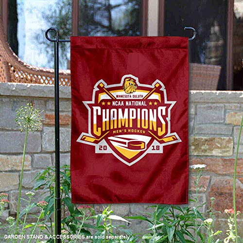 College Flags and Banners Co. Minnesota Duluth Bulldogs Hockey 2018 National Champions Garden Flag