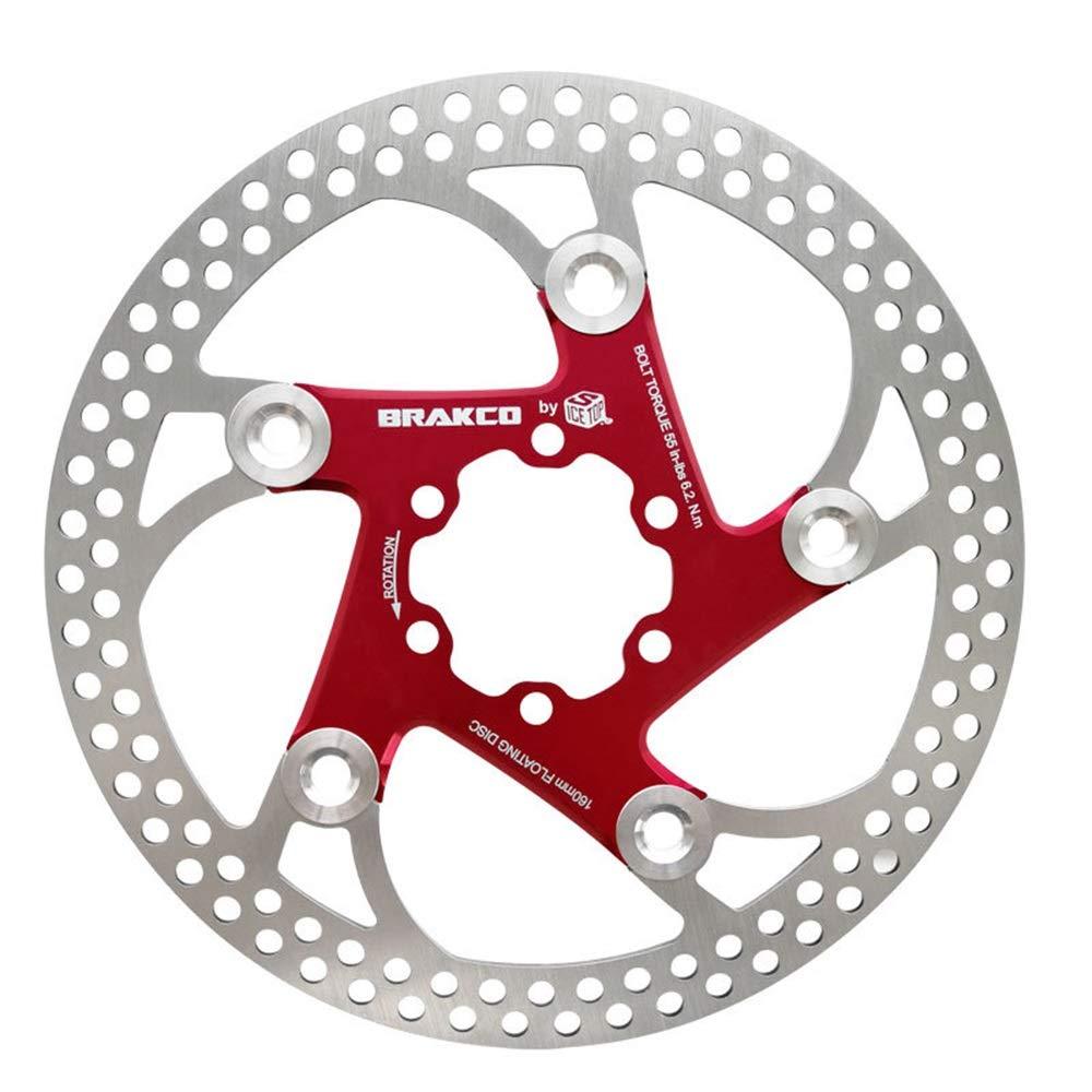 マウンテンバイク用ブレーキブレーキ パッ 自転車マウンテンバイク電気自動車ディスクブレーキ160 mm ブレーキシュー パッド マウンテンバイク用 消音 耐久 ブレーキ (色 : 160MM red)  160MM red B07P2CS73D