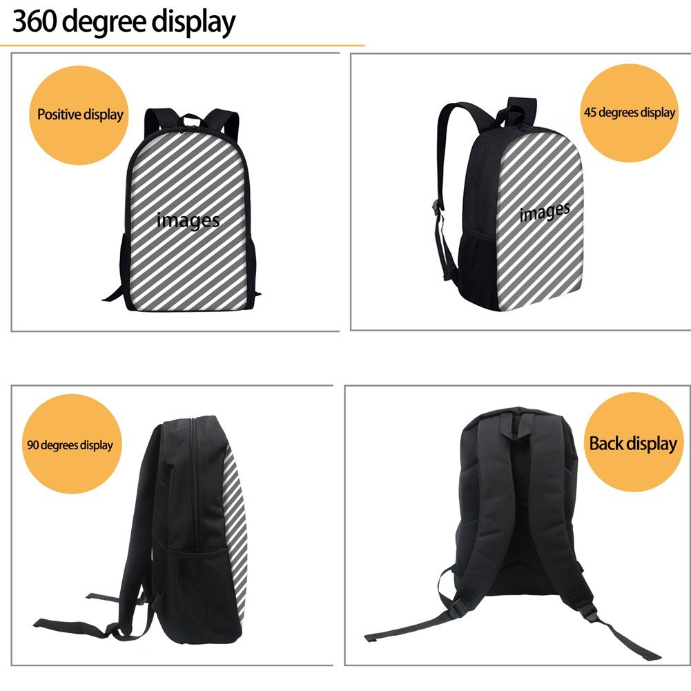 Bigcardesigns Deep Sea Animal Shark Backpack Blue School Bag for Boys Girls Fashion Knapsack by Bigcardesigns (Image #6)