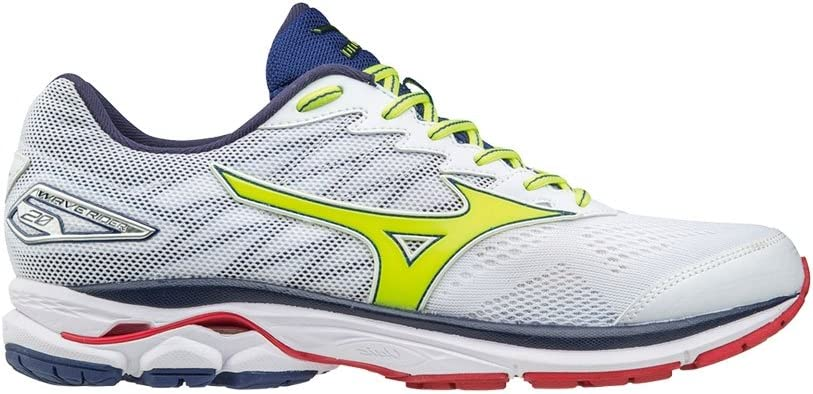 MIZUNO WAVE RIDER 20 GRIS AMARILLO FLUOR J1GC170357: Amazon.es ...