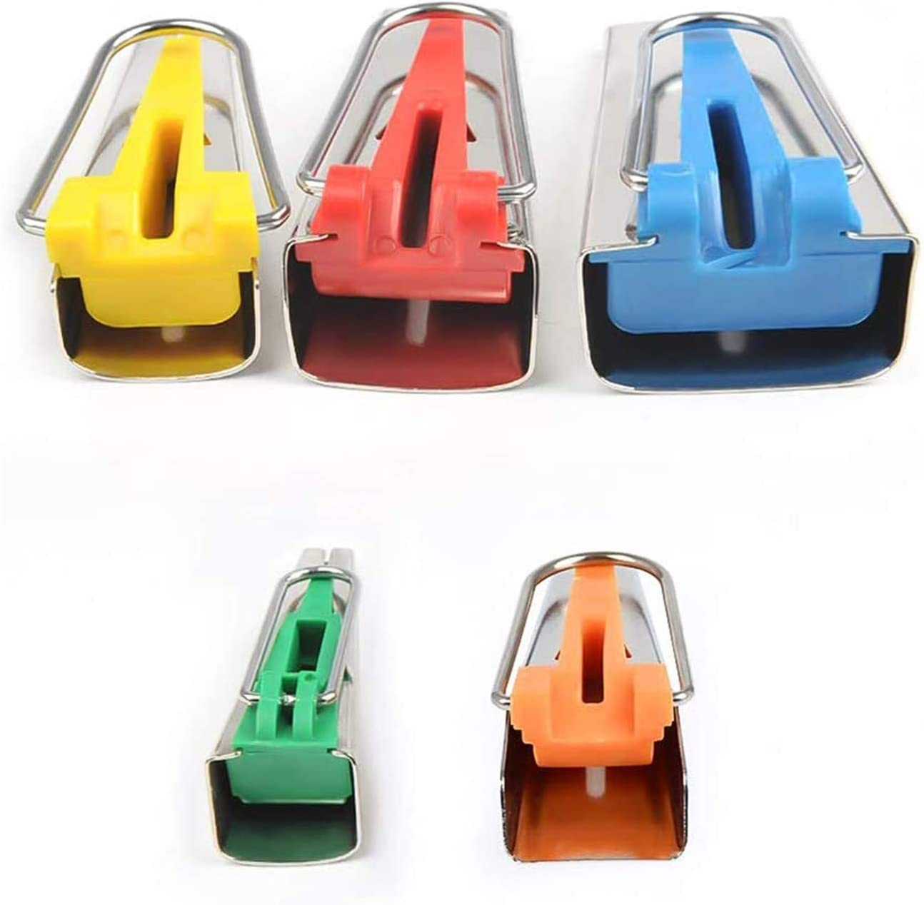 4 tama/ños Conjunto de 4 tama/ños de tela Bias Tape Maker Kit Set Multicolor DIY Craft Coser Quilting Tool 6mm 9mm 12mm 18mm 25mm