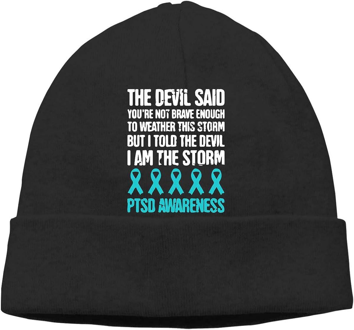 GDSG5/&4 PTSD Awareness Men /& Women Sweat Wicking Winter Ski Beanie Cap